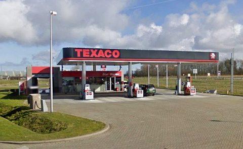 texaco, tankstation, wasstraat