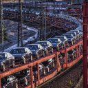 mercedes, trein, auto's