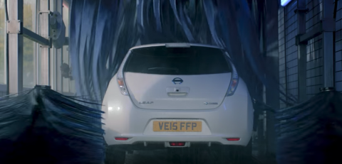 carwash, Nissan, EV, youtube