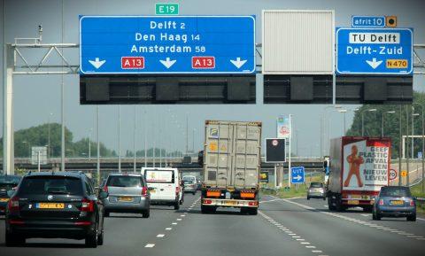 snelweg, Nederland, verkeer,
