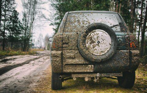 vieze auto, dirty car,
